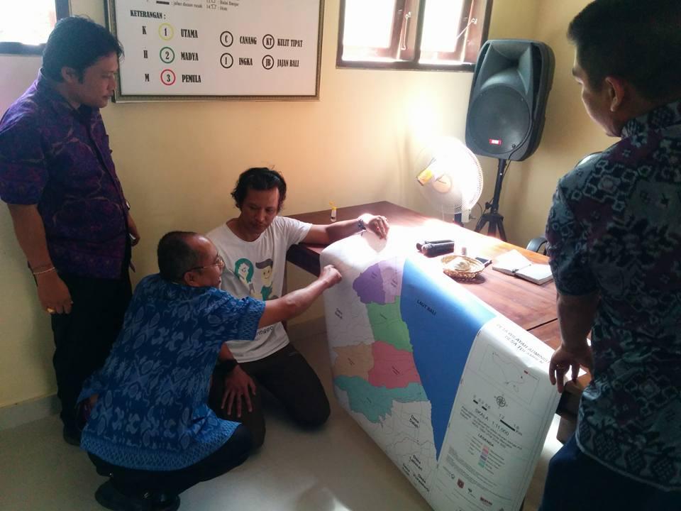 diskusi pembahasan peta desa tulamben 2017 - 2